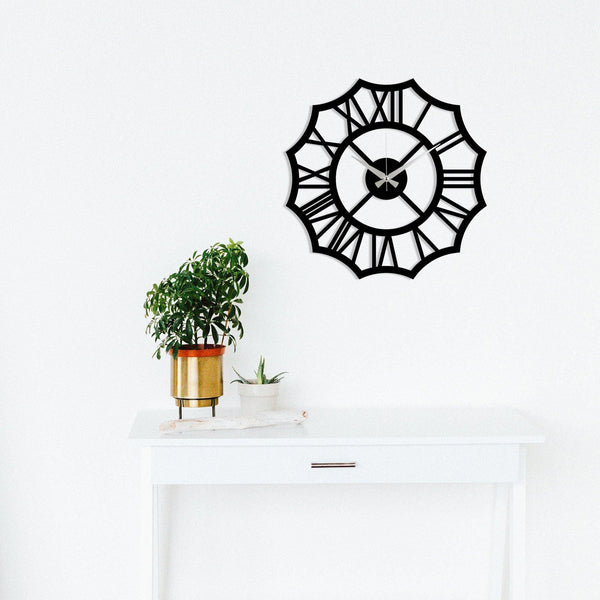 Metal Wall Clock 23 - Black Wall Art-Metal Wall Art-[sale]-[design]-[modern]-Modern Furniture Deals