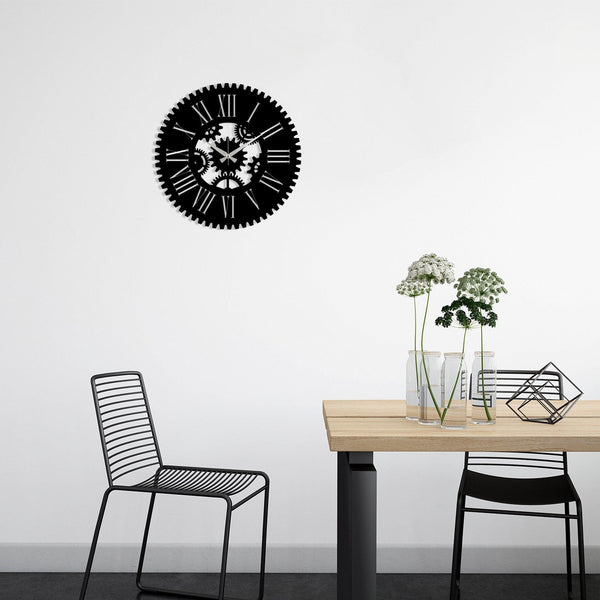 Metal Wall Clock 24 - Black Wall Art-Metal Wall Art-[sale]-[design]-[modern]-Modern Furniture Deals