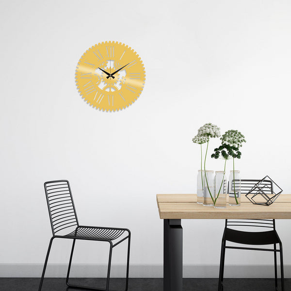 Metal Wall Clock 24 - Gold Wall Art-Metal Wall Art-[sale]-[design]-[modern]-Modern Furniture Deals