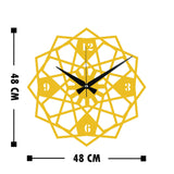 Metal Wall Clock 27 - Gold Wall Art-Metal Wall Art-[sale]-[design]-[modern]-Modern Furniture Deals