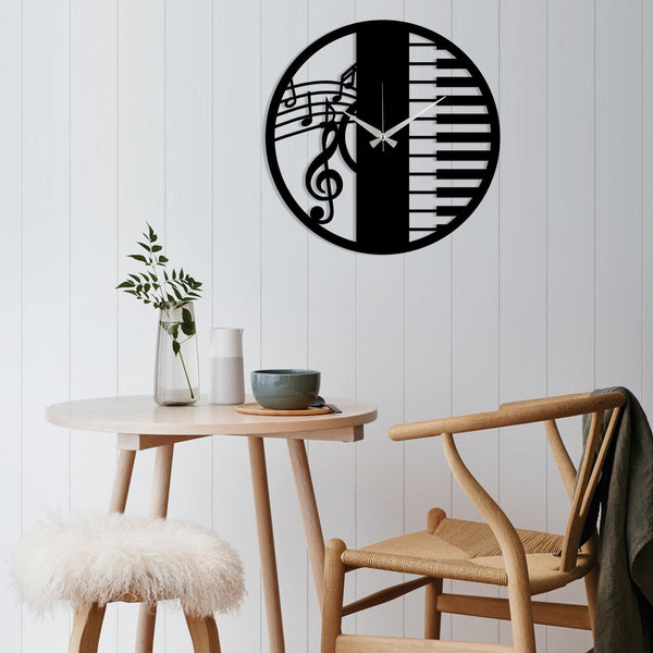 Metal Wall Clock 29 - Black Wall Art-Metal Wall Art-[sale]-[design]-[modern]-Modern Furniture Deals