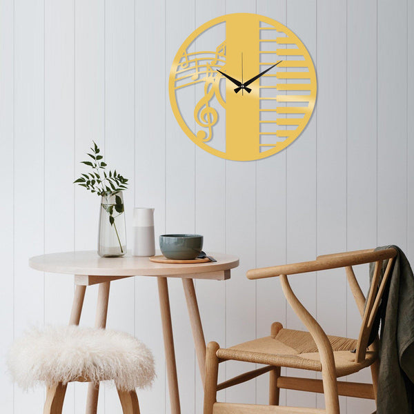 Metal Wall Clock 29 - Gold Wall Art-Metal Wall Art-[sale]-[design]-[modern]-Modern Furniture Deals