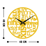 Metal Wall Clock 32 - Gold Wall Art-Metal Wall Art-[sale]-[design]-[modern]-Modern Furniture Deals