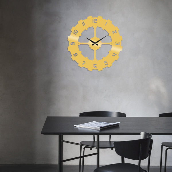 Metal Wall Clock 4 - Gold Wall Art-Metal Wall Art-[sale]-[design]-[modern]-Modern Furniture Deals