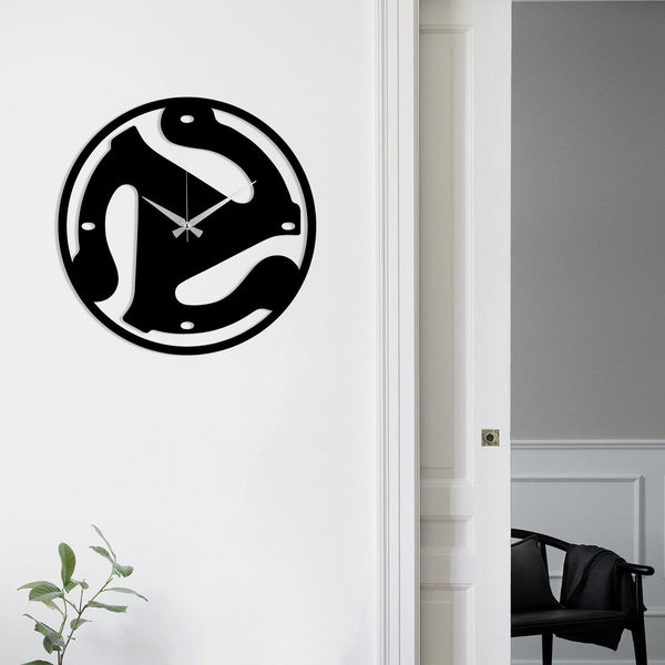 Metal Wall Clock 5 - Black Wall Art-Metal Wall Art-[sale]-[design]-[modern]-Modern Furniture Deals