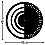 Metal Wall Clock 8 - Black Wall Art-Metal Wall Art-[sale]-[design]-[modern]-Modern Furniture Deals