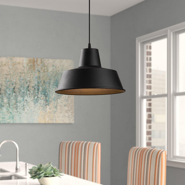 MIA INDUSTRIAL PENDULUM CEILING LIGHT BLACK GOLD-Modern Furniture Deals