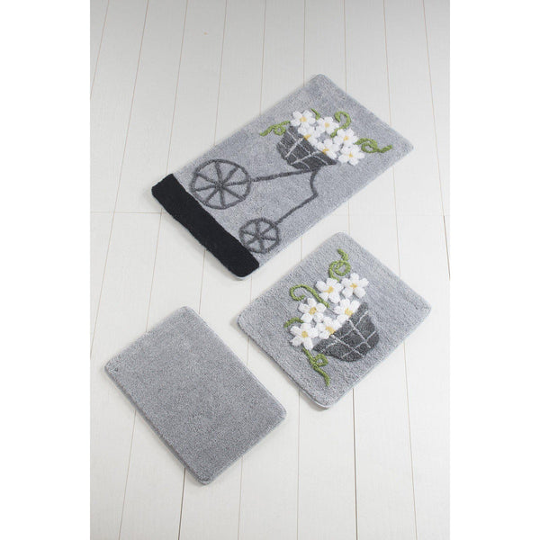 Mimi Grey 2 Bath Mat-Bath Mat-[sale]-[design]-[modern]-Modern Furniture Deals