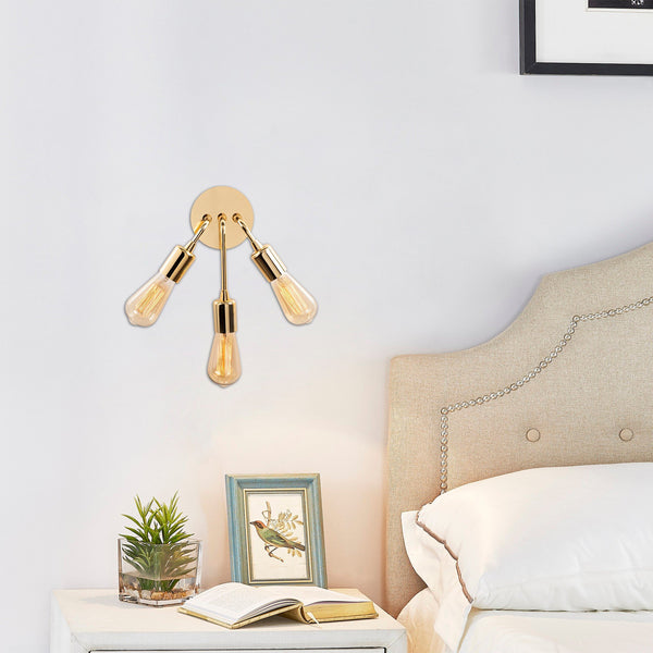 MOJI 3 Wall Light Gold-Wall Light-[sale]-[design]-[modern]-Modern Furniture Deals