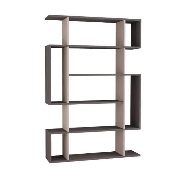 Moon Bookcase-Grey-Mocha-Modern Furniture Deals