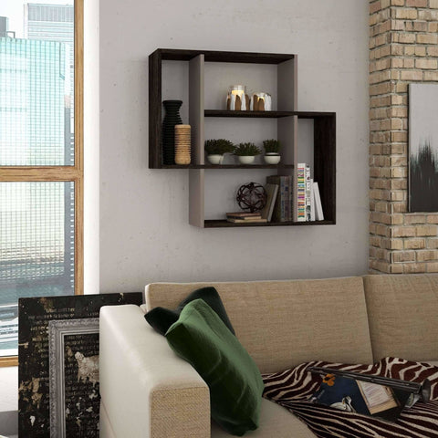 Moon Shelf-D.Brown-L.Mocha-Modern Furniture Deals