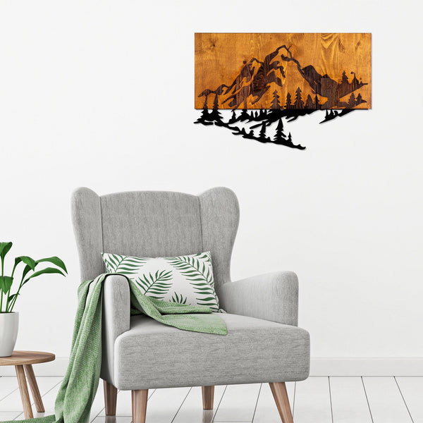 Mountain 2 Metal Wall Art-Metal Wall Art-[sale]-[design]-[modern]-Modern Furniture Deals