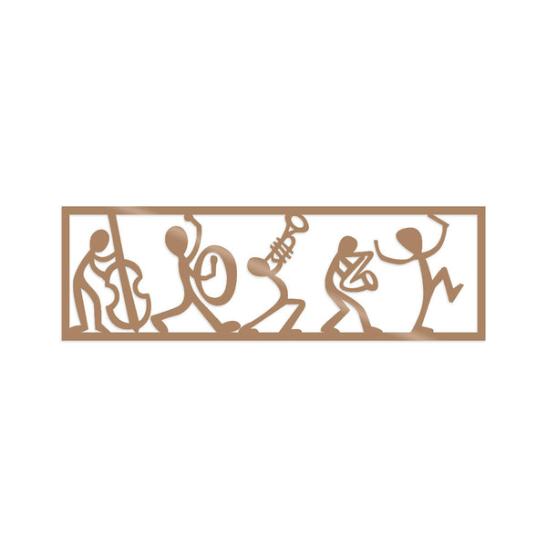 MUSICIANS - COPPER Wall Art-Metal Wall Art-[sale]-[design]-[modern]-Modern Furniture Deals