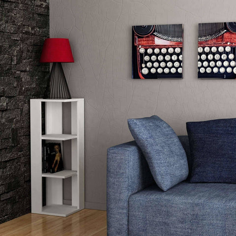Naty Short Corner Bookcase-White-Modern Furniture Deals
