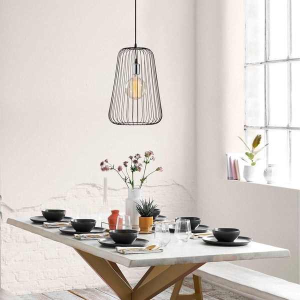 NEST Pendulum Metal Ceiling Light Black, Silver-Modern Furniture Deals