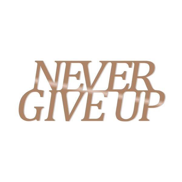 NEVER GIVE UP - COPPER Wall Art-Metal Wall Art-[sale]-[design]-[modern]-Modern Furniture Deals