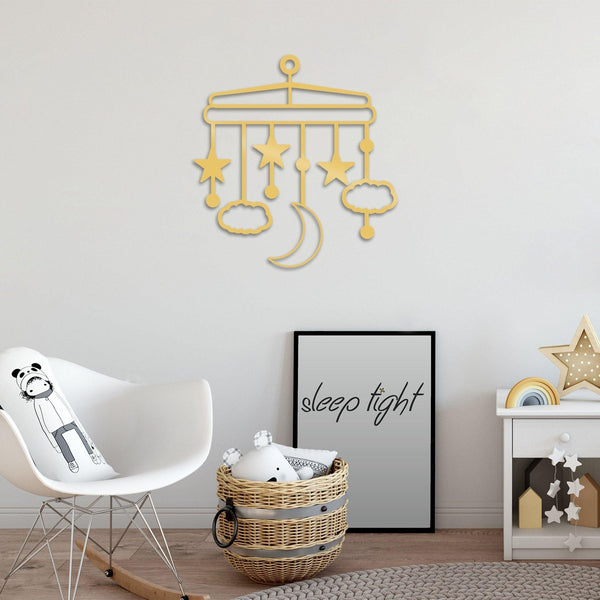 NIGHT 1 - GOLD Wall Art-Metal Wall Art-[sale]-[design]-[modern]-Modern Furniture Deals