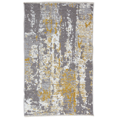Nk 02 Rug - Yellow-Grey 80X200-Modern Furniture Deals