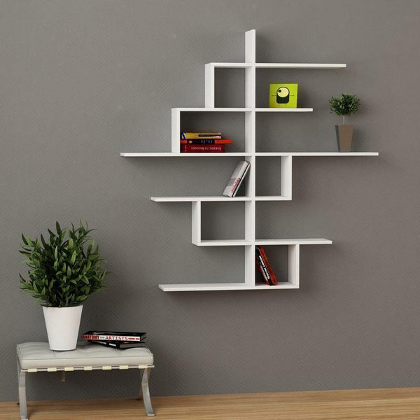 No.4 Wall Shelf-White-Modern Furniture Deals
