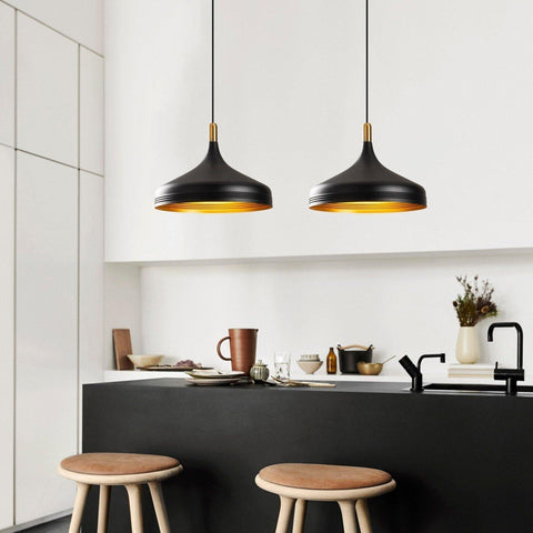 OLIVIA PENDULUM CEILING LIGHT BLACK GOLD-Modern Furniture Deals