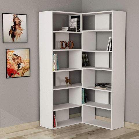 Only N.4 Bookcase-White-Modern Furniture Deals