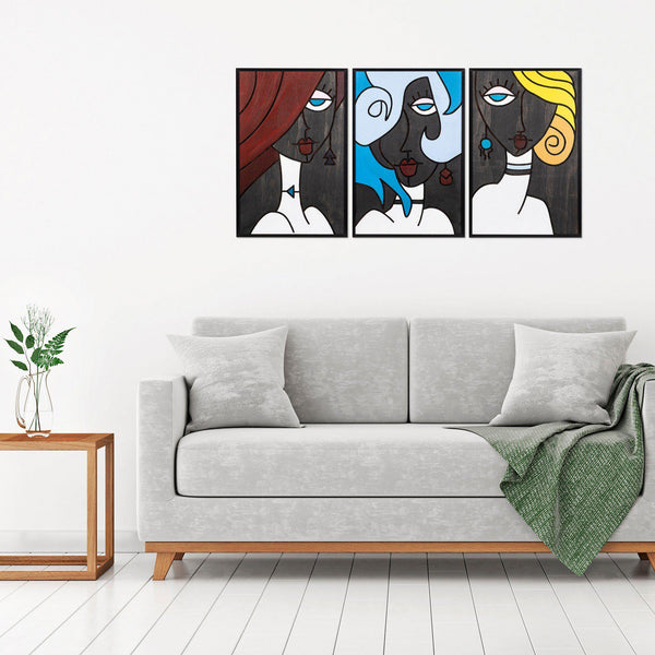 Our Girls 1 Wall Art-Metal Wall Art-[sale]-[design]-[modern]-Modern Furniture Deals