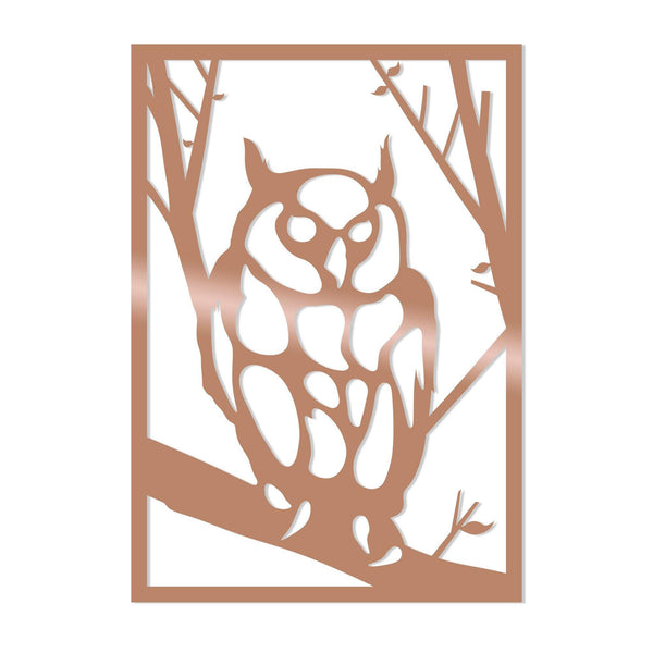 OWL - COPPER Wall Art-Metal Wall Art-[sale]-[design]-[modern]-Modern Furniture Deals