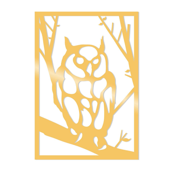 OWL METAL DECOR - GOLD Wall Art-Metal Wall Art-[sale]-[design]-[modern]-Modern Furniture Deals
