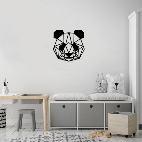 PANDA - BLACK Wall Art-Metal Wall Art-[sale]-[design]-[modern]-Modern Furniture Deals