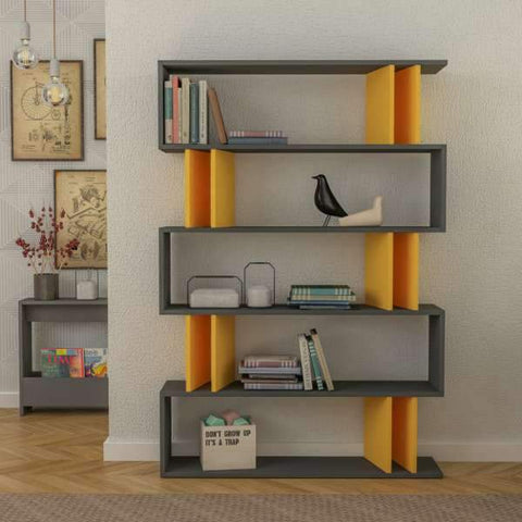 Part Bookcase-Mocha-Dark Brown-Modern Furniture Deals