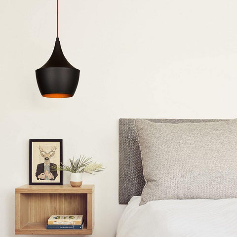 PEBE Pendulum Ceiling Light Black / Red-Modern Furniture Deals