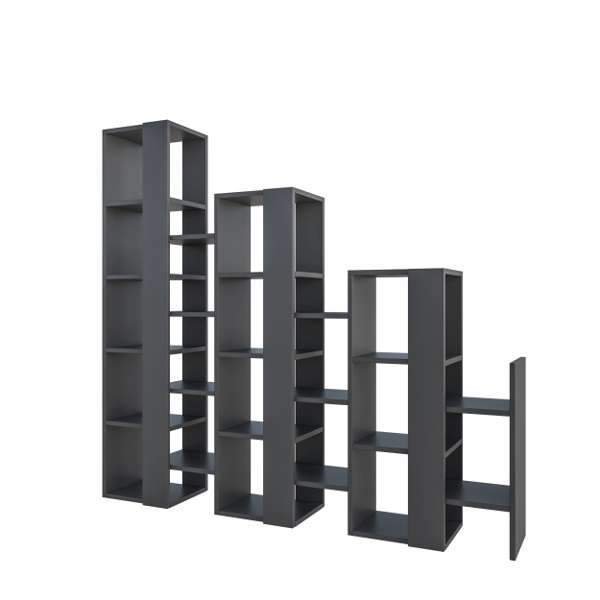 Penta Room Divider Bookcase-Anthracite-Modern Furniture Deals
