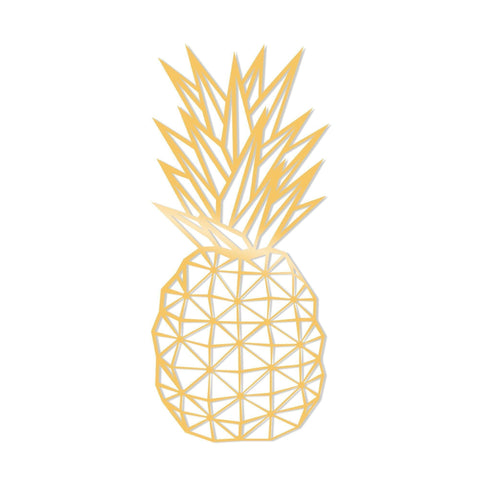 PINEAPPLE METAL DECOR - GOLD Wall Art-Metal Wall Art-[sale]-[design]-[modern]-Modern Furniture Deals