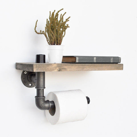 PIPE Wall Mounted Toilet Roll Holder-BATHROOM>ACCESSORIES-[sale]-[design]-[modern]-Modern Furniture Deals