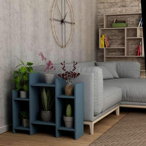 Pots Side Unit-Turquoise-Modern Furniture Deals
