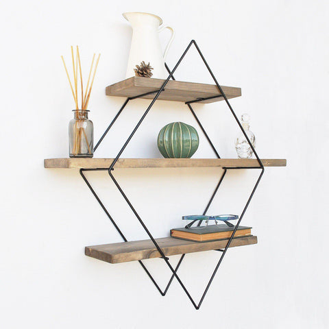 PRISM Industrial Solid Wood Wall Shelf-Wall Shelf-[sale]-[design]-[modern]-Modern Furniture Deals