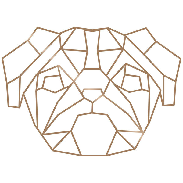 PUG - COPPER Wall Art-Metal Wall Art-[sale]-[design]-[modern]-Modern Furniture Deals