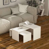 Quara 3 Nesting Tables-Mocha-Antique White-Modern Furniture Deals