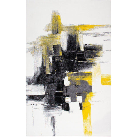 Rae Rug - Grey-Yellow 80X150-Modern Furniture Deals
