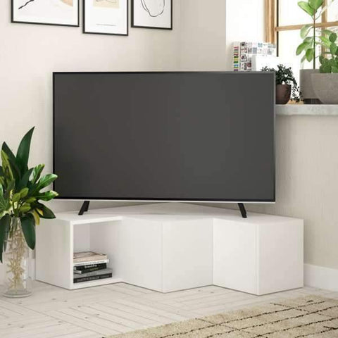 Recta Corner Tv Cabinet-White-Modern Furniture Deals