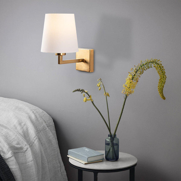 Retro Gold Wall Light White-Modern Furniture Deals
