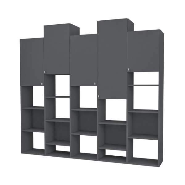 Rock Cabinet /Bookcase-Grey-Modern Furniture Deals