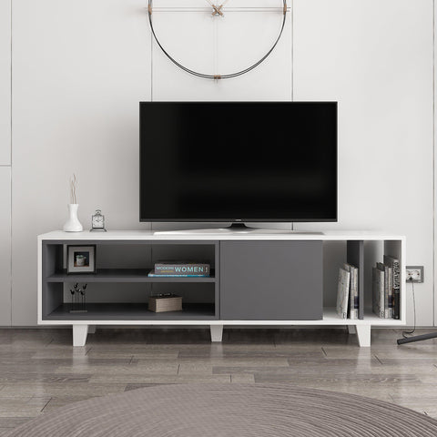 Rosi Tv Unit White - Anthracite-FURNITURE>TV STANDS>TV STAND-[sale]-[design]-[modern]-Modern Furniture Deals