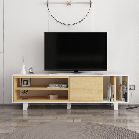 ROSI Tv Unit White - Oak-FURNITURE>TV STANDS>TV STAND-[sale]-[design]-[modern]-Modern Furniture Deals