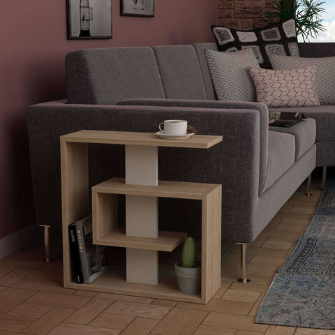 Sandy Side Table-Oak-White-Modern Furniture Deals