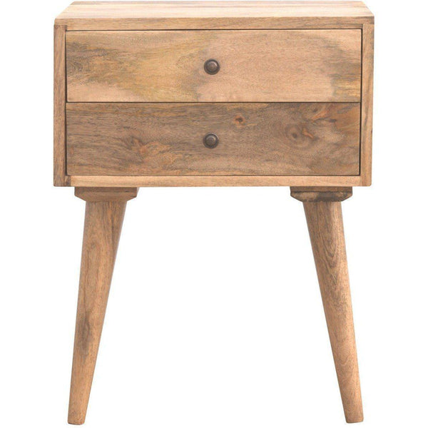 Scandinavian 2 Drawer Bedside Table-Modern Furniture Deals