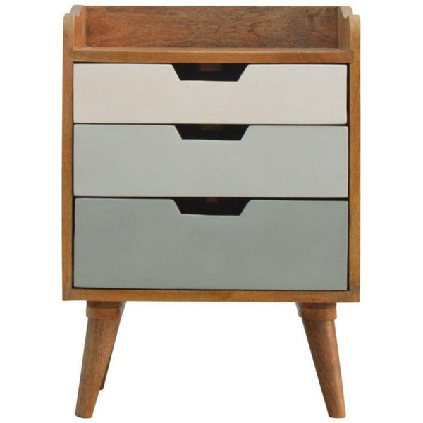 Scandinavian 3 Drawer Bedside Green-Modern Furniture Deals