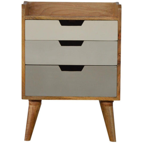 Scandinavian 3 Drawer Bedside Grey-Modern Furniture Deals