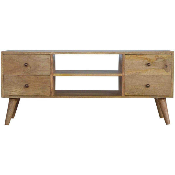 Scandinavian 4 Drawer Media Unit-Modern Furniture Deals