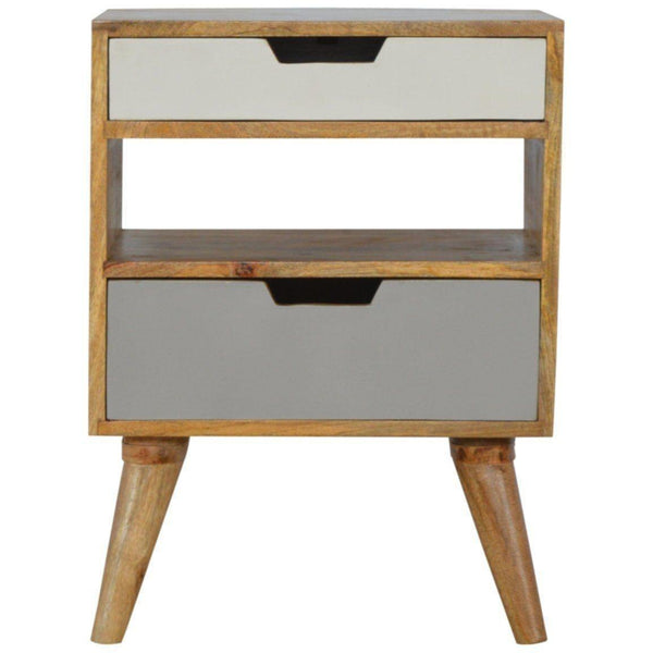 Scandinavian Cut Out Bedside-Modern Furniture Deals